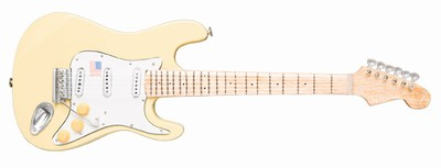 YNGWIE MALMSTEEN - Strat Vintage White style, Size: 25cm / 9