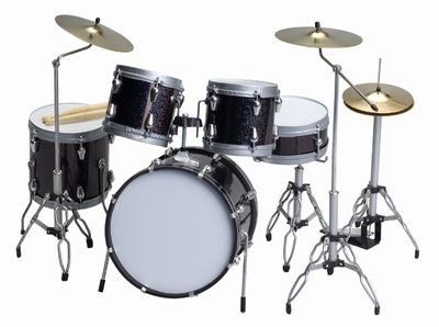 Handcrafted Miniature Drum-kit - black
