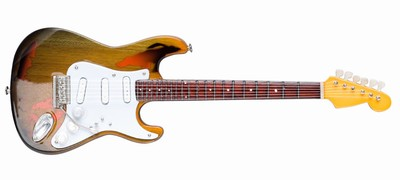 RORY GALLAGHER Battered  '61 Tribute Strat style, Size: 25cm