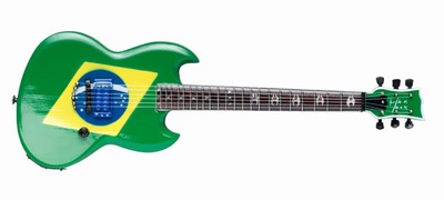 SOULFLY - Max Cavalera: Brazilian-flag style, Size: 25,5cm /